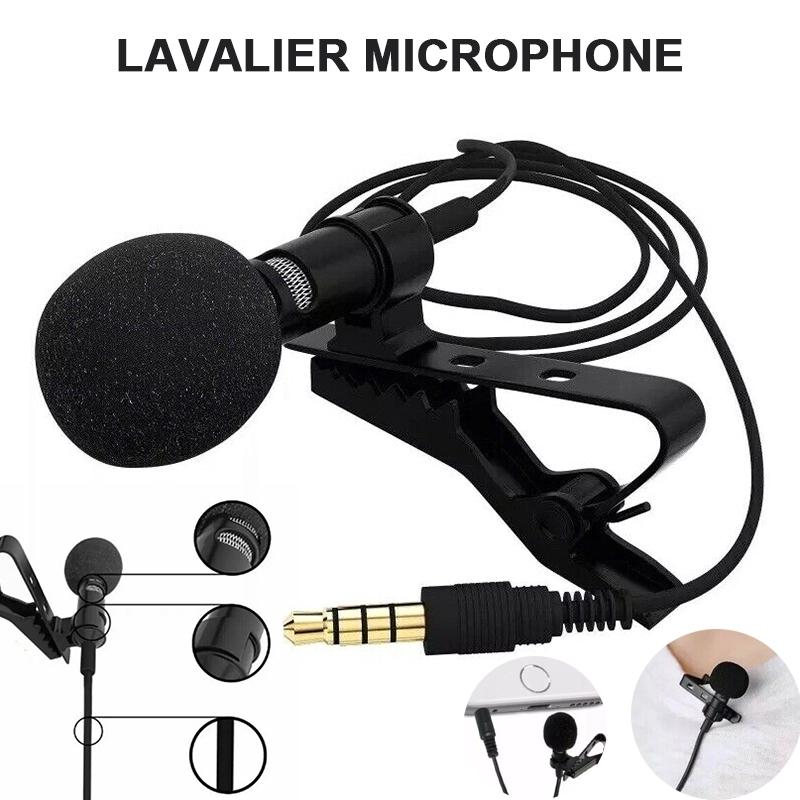 3,5 mm Stereo Wireless FM Sender Empfaenger Lavalier Revers Clip Mikrofon X2K5