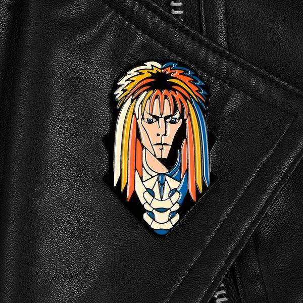 David Bowie the Labyrinth brooch pin clip retro vintage Jareth goblin king Sarah