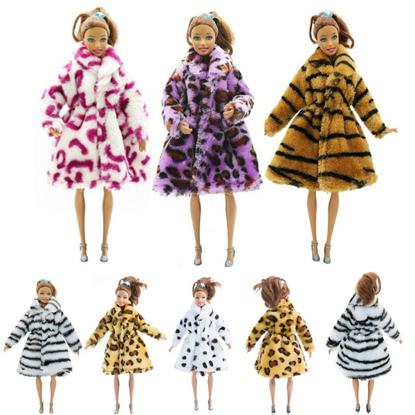 Barbie Doll, fur coat, Fashion, fur