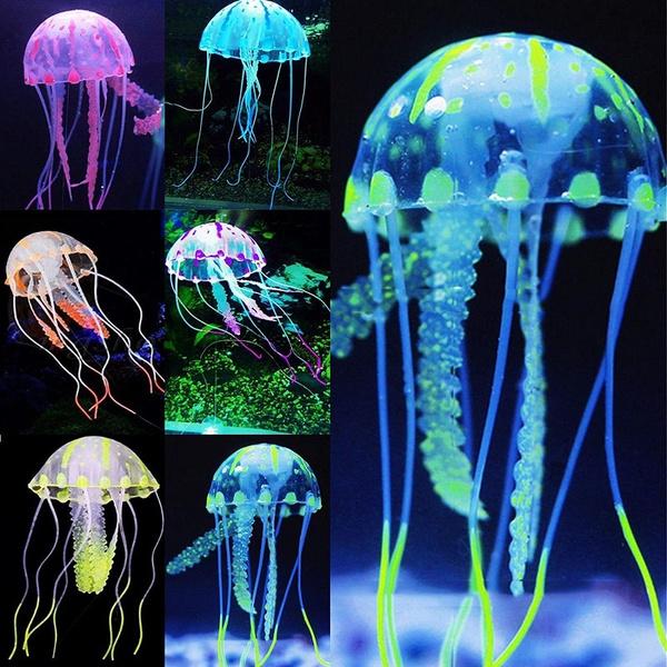 aquariums, Tank, underwaterornament, glowingeffectjellyfish