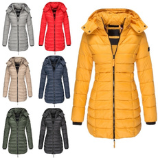 padded, hooded, Invierno, pufferjacket