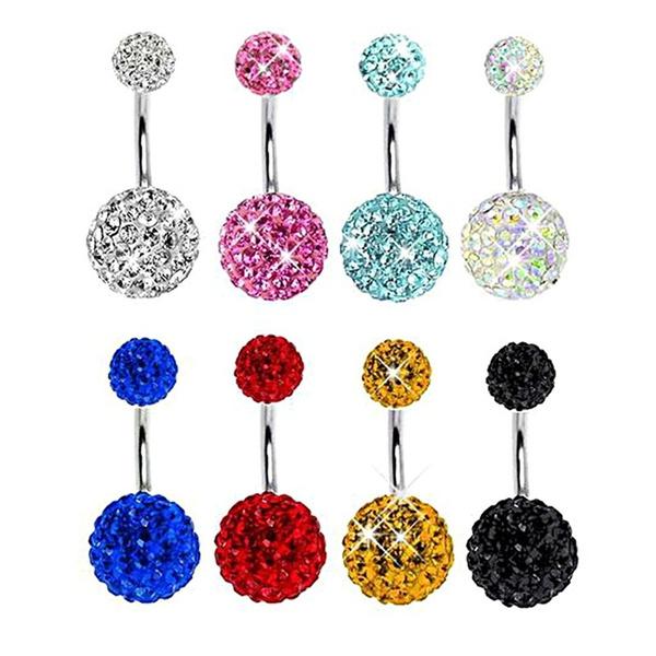 Steel, DIAMOND, Jewelry, bellyring