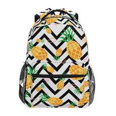 pineapplepattern, Laptop Backpack, largecapacitybackpack, Kids' Backpacks