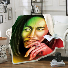Fleece, fleecethrowblanket, bobmarley, blanketforbed