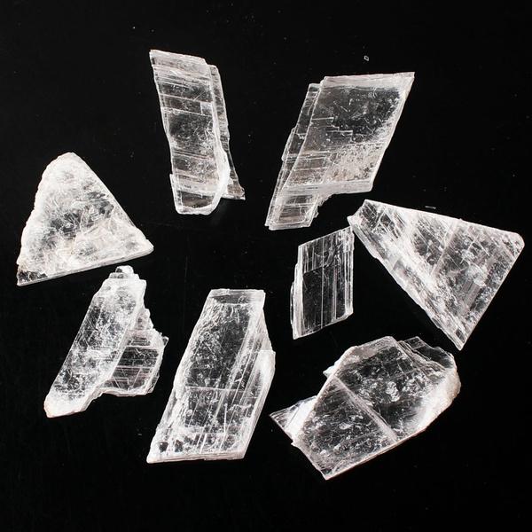 rawcrystal, gypsum, gypsumselenite, Jewelry