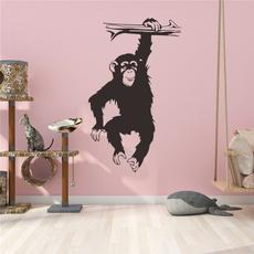 monkey, Decor, catoonwallsticker, Home Decor