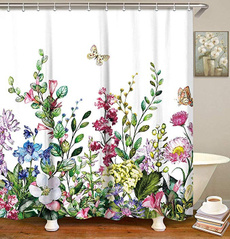 Machine, Bathroom, Flowers, Colorful