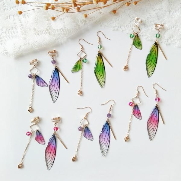 butterfly, Jewelry, fairy, asymmetric