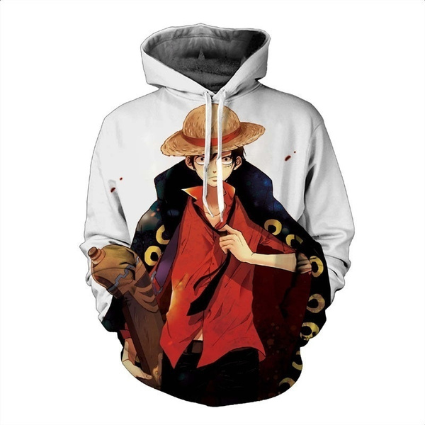3D hoodies, 3danimehoodie, Fashion, onepiecehoodie