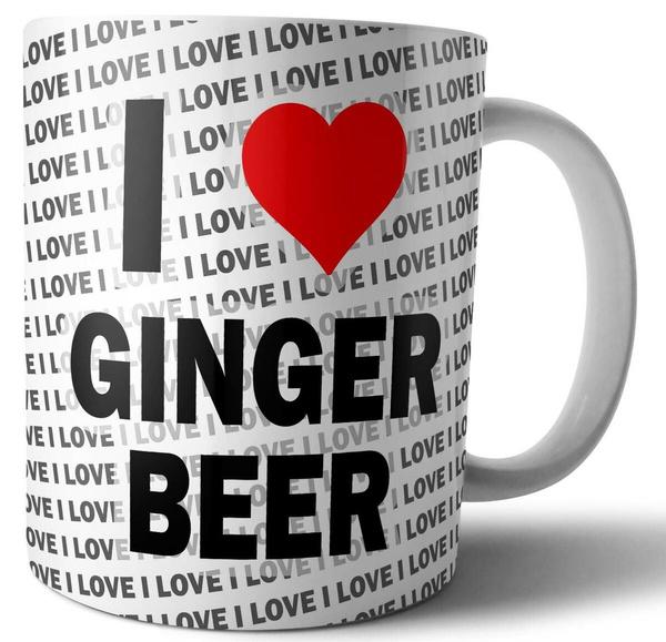 I Love Heart Ginger Mug