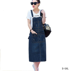 denim dress, Summer, Plus Size, long dress