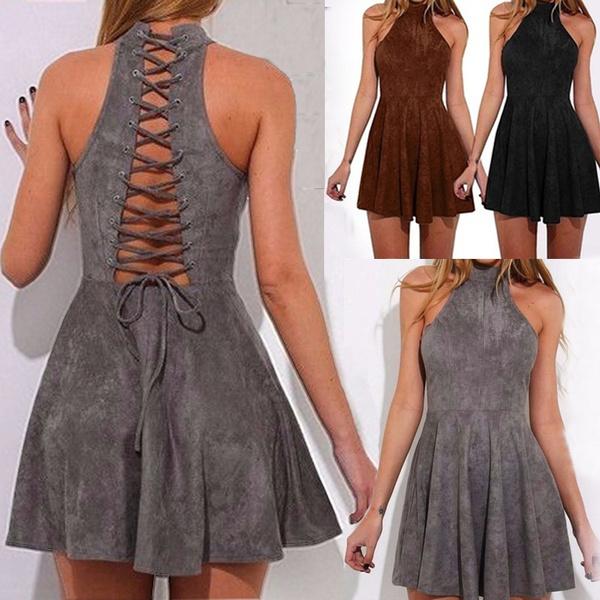 slim dress, bandage dress, halter dress, short dress