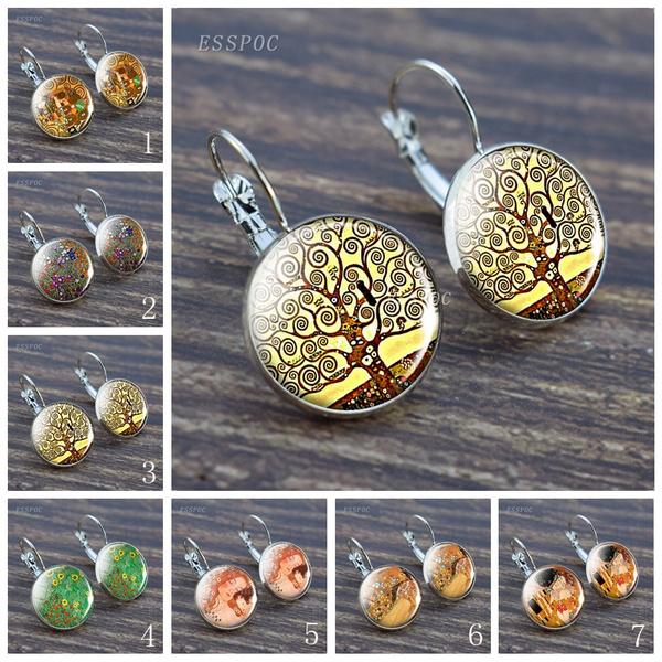 art, Hoop Earring, Dangle Earring, Jewelry