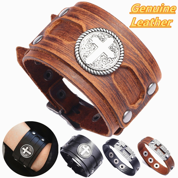 wristbandbracelet, Jewelry, genuine leather, punk