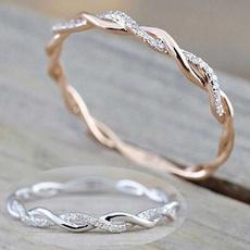 Sterling, crystal ring, zirconring, 925 silver rings