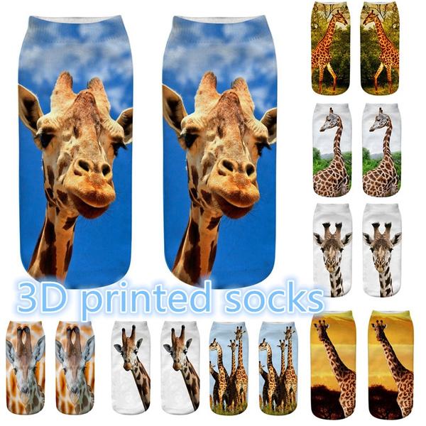 Summer, animal print, unisex, Socks