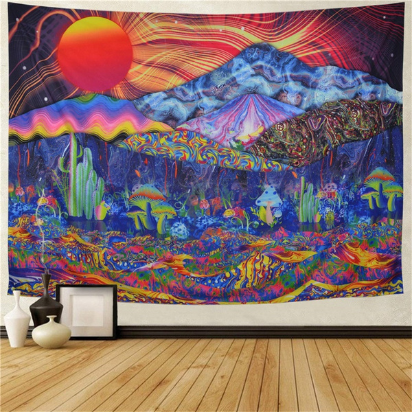 trippytapestry, Mountain, hippie, Colorful