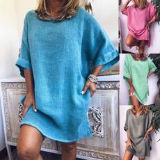 Summer, Plus Size, 洋裝, short sleeves