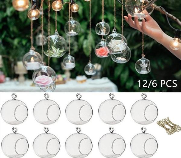 decoration, tealightholder, glassglobe, Home & Living