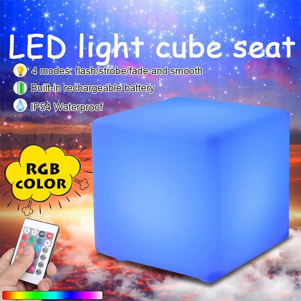 colourchangingcubestool, Outdoor, light up, waterproofledchair