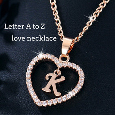 goldplated, Heart, Chain Necklace, Jewelry
