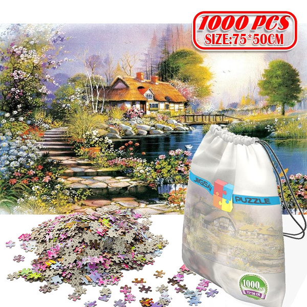 Toy, 1000pc, Wooden, Jigsaw Puzzle