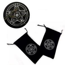 velvet, tarotcardsdrawstringbag, pentagram, Handmade