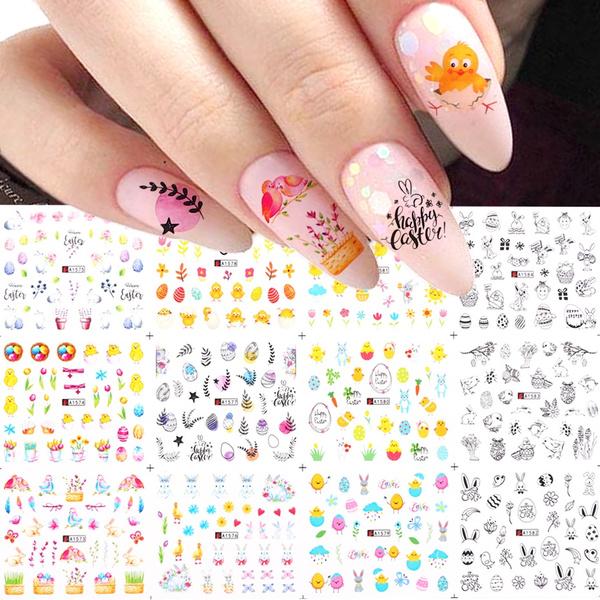 nail decals, art, rabbit, Beauty