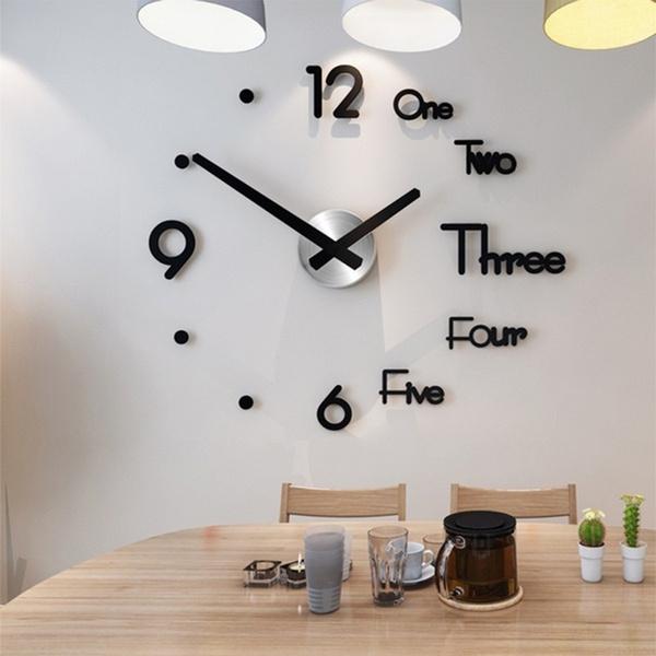 acrylicquartzhorloge, Fashion, Home Decor, Clock