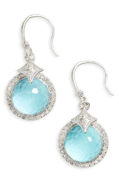 Sterling, DIAMOND, wedding earrings, hookearring