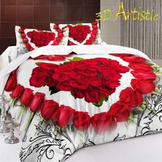 Rose, Bedding, 3droseprintbedding, Cover