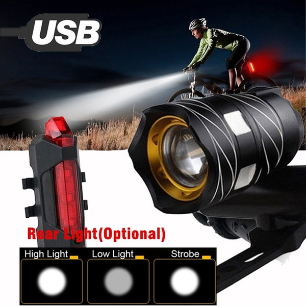 Flashlight, Bicycle, Rechargeable, Cycling