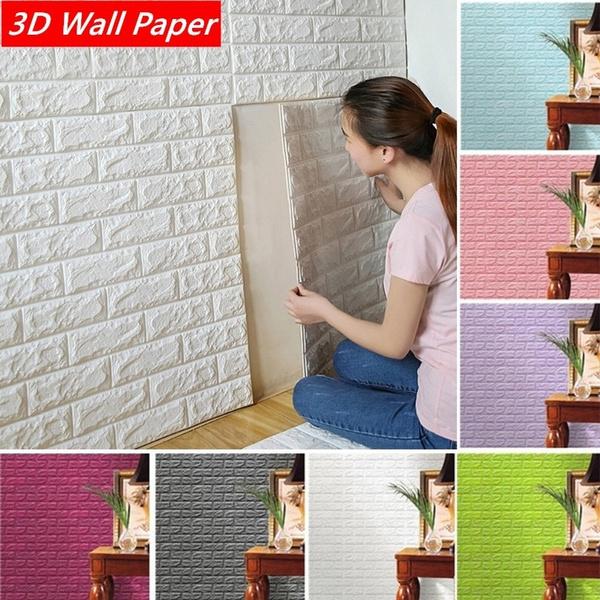 Home & Kitchen, 3dbrickpatternwallpaper, 3dwallsticker, diywallpaper