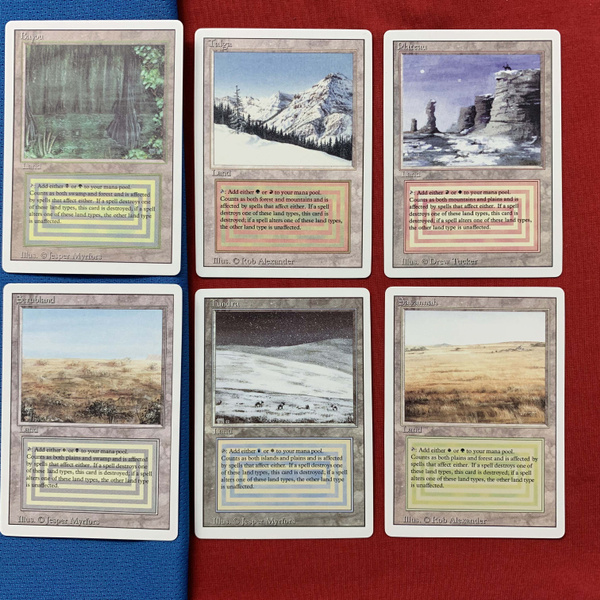 10 Pieces Set Dual Lands Revised Mtg Proxy Card German Black Core Magic The Gathering Fnm Gp Cards Game Wish Get the best deals on dual lands individual magic: 10 pieces set dual lands revised mtg proxy card german black core magic the gathering fnm gp cards game wish