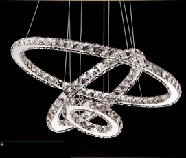 pendantlight, crystal ring, led, Home Decor