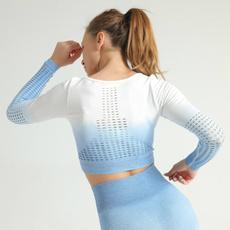 slim, Yoga, Shirt, Sleeve