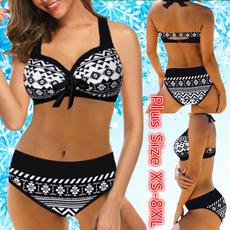 Plus Size, women beachwear, Bikini swimwear, Beach