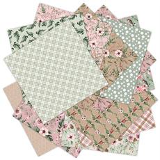 patterned, Flowers, Scrapbooking, Winter