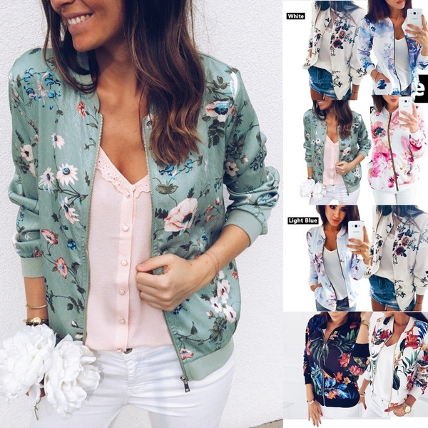 casual coat, Fashion, Floral print, Coat