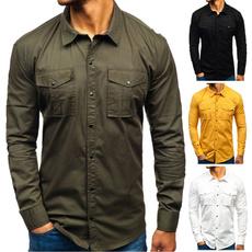 camisamasculina, Fashion, Cotton Shirt, Shirt