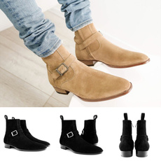 ankle boots, Men, workshoe, leather