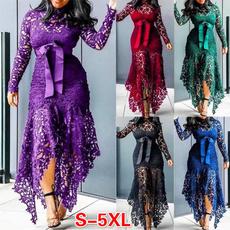 party, Fashion, Lace, long dress