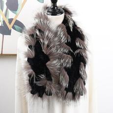 women scarf, fur, Winter, foxfur