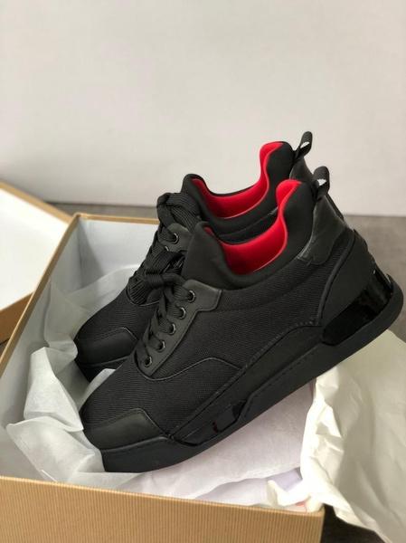 Mens Designer Sneakers Flat Trainer Red
