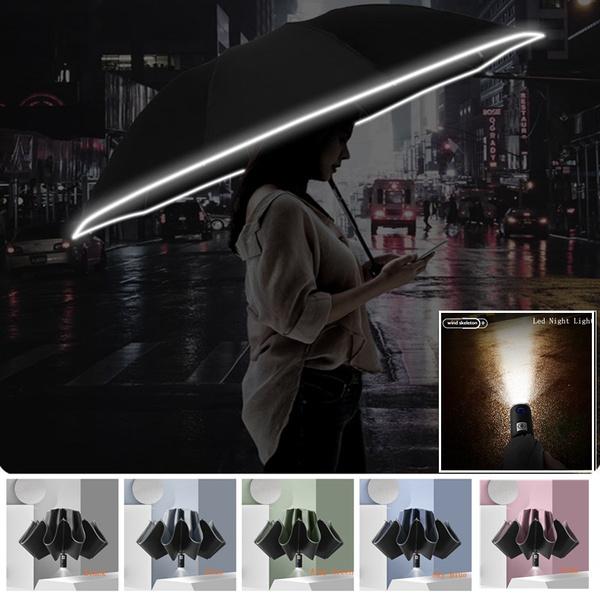 Flashlight, raingear, Umbrella, windproofumbrella
