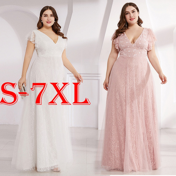 Plus Size, ruffle, Lace, plus size dress