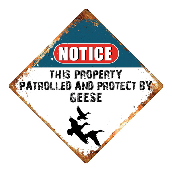 wallsignplaque, protect, Hotel, geese