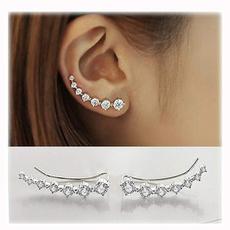 Sterling, Silver Jewelry, Hoop Earring, hookstudearring