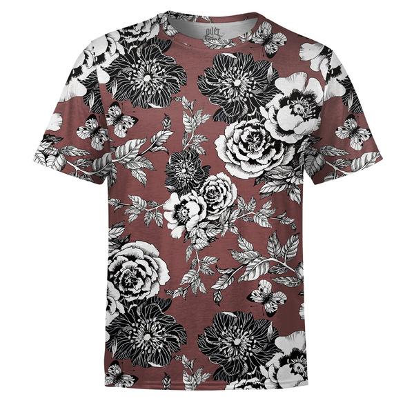 totalprint, flore, camiseta, masculina
