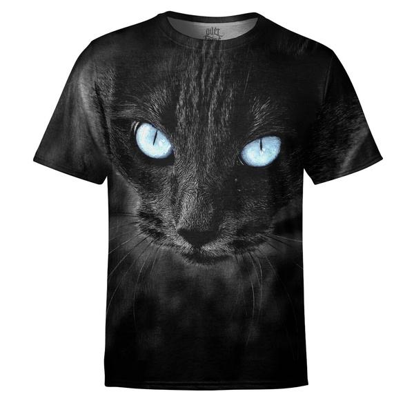 felino, totalprint, animal print, camiseta